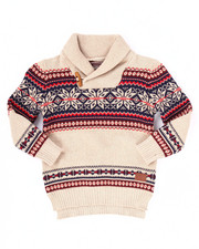 Boys - SNOW DAY SHAWL COLLAR SWEATER (2T-4T)