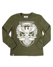 Sizes 8-20 - Big Kids - L/S EAGLE CREST TEE (8-20)