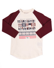 T-Shirts - SNOW DAY RAGLAN TEE (4-7)