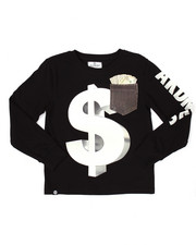 Akademiks - L/S MO' MONEY POCKET TEE (8-20)