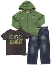 Sets - 3 PC SET - MILITARY HOODY, TEE, & JEANS (4-7)