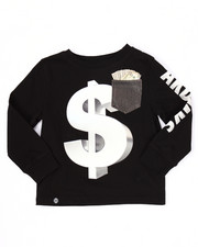 Akademiks - L/S MO' MONEY POCKET TEE (4-7)