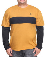 Men - L/S Twofer Contrast Panel T-Shirt (B&T)