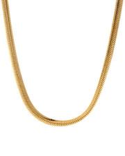 Men - 5MM Thick Gold Herringbone Chain