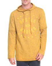 Men - Twofer Embossed Hoodie