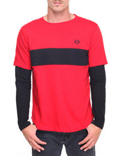 Men - L/S Twofer Contrast Panel T-Shirt