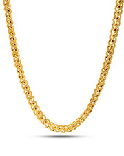 Accessories - 4MM 14K Gold Stainless Steel Franco Necklace