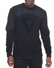 Pullover Sweatshirts - Mesh Rhinestone Crewneck Sweatshirt