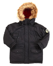 Heavy Coats - PARKA W/ FAUX FUR TRIM HOOD (4-7)