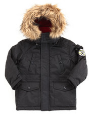 Heavy Coats - PARKA W/ FAUX FUR TRIM HOOD (2T-4T)
