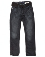 Jeans - BELTED MERCERIZED JEANS (8-20)