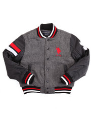U.S. Polo Assn. - WOOL VARSITY JACKET (8-20)