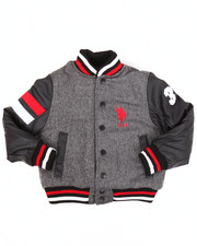 Heavy Coats - WOOL VARSITY JACKET (4-7)