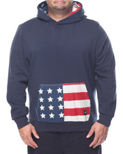 Men - Texas American Flag Hoodie (B&T)