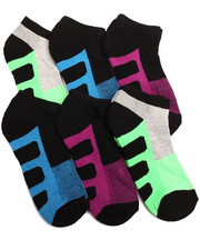 Women - Color Block Half Cushion Athletic 6PK Low Cut Socks