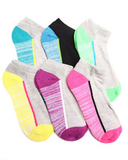 Women - Space Dye ATHLETIC 6PK Cushion low Cut Socks