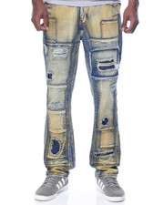 Men - Patch - Link Destructed Denim Jeans