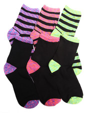 Women - Space Dye 6PK Crew Socks