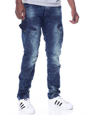 Men - Tuck Cargo Denim Jeans
