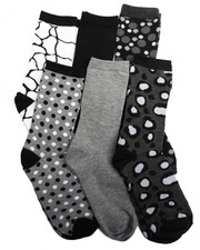 Women - Geo Mix 6PK Crew Socks