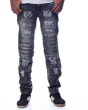 Men - Ridge - Well Zipper / Splatter Denim Jeans