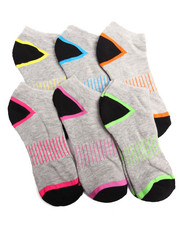 Women - Stripe Half Cushion Athletic 6PK Low Cut Socks
