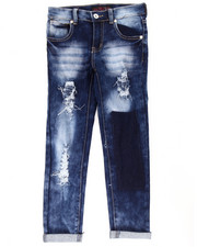 La Galleria - SUPER SOFT CUFF JEANS W/ GHOST PATCH (7-16)