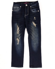 Girls - SUPER SOFT DISTRESSED SKINNY JEANS (4-6X)