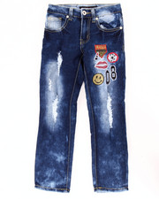 Girls - SUPER SOFT JEANS W/ EMBROIDERED PATCHS (4-6X)