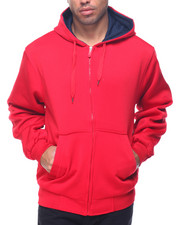 Basic Essentials - Basic Thermal - Lined Zip - Up Fleece Hoodie