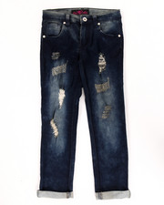 La Galleria - SUPER SOFT DISTRESSED CUFF JEANS (7-16)