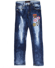 La Galleria - SUPER SOFT JEANS W/ EMBROIDERED PATCHES (7-16)