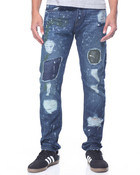 ROEBLING Painted Patched Denim JEANS