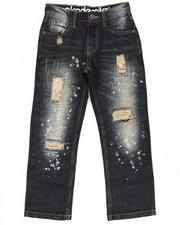 Sizes 8-20 - Big Kids - SPLATTER JEANS (8-20)