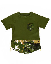 Tops - ELONGATED SPLATTER CAMO TEE (2T-4T)