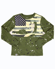 Sizes 8-20 - Big Kids - L/S SPLATTER AMERICANA TEE (8-20)