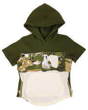 Hoodies - S/S THERMAL SPLATTER CAMO HOODY (2T-4T)