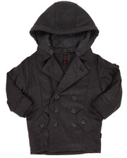 Heavy Coats - WOOL PEACOAT W/ HOOD (2T-4T)