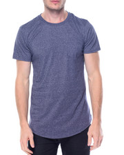 Men - Melange Scallop Tee