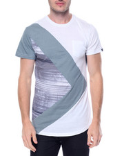 Men - Scallop Panel Print Tee