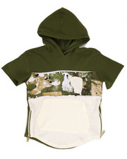 Boys - S/S THERMAL SPLATTER CAMO HOODY (4-7)