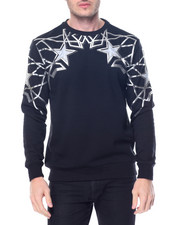 Men - Geometric Pattern Crewneck Sweatshirt