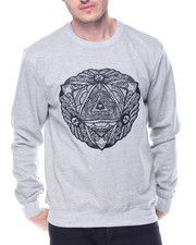 Men - Lurex Emblem Crewneck Sweatshirt