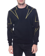 Hudson NYC - Studded Lighting Bolt Crewneck Sweatshirt
