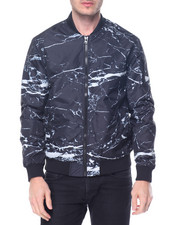 Light Jackets - Marble Nylon MA-1 Jacket