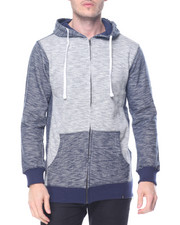 Men - Zipup Contrast Hoodie w side zip detail