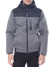 Light Jackets - Neoprene Colorblock Hoodie Jacket