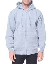 Basic Essentials - Basic Zip - Up Fleece Hoodie