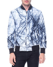 Light Jackets - Tree Print Nylon Jacket
