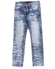 Girls - SUPER SOFT ACID WASH DISTRESSED SKINNY JEANS (4-6X)